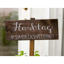 Small Crop Of Wedding Hashtag Sign