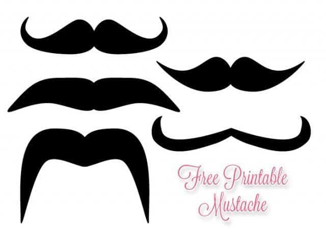 Free Printable Mustache - How to Make Mustache Sticks