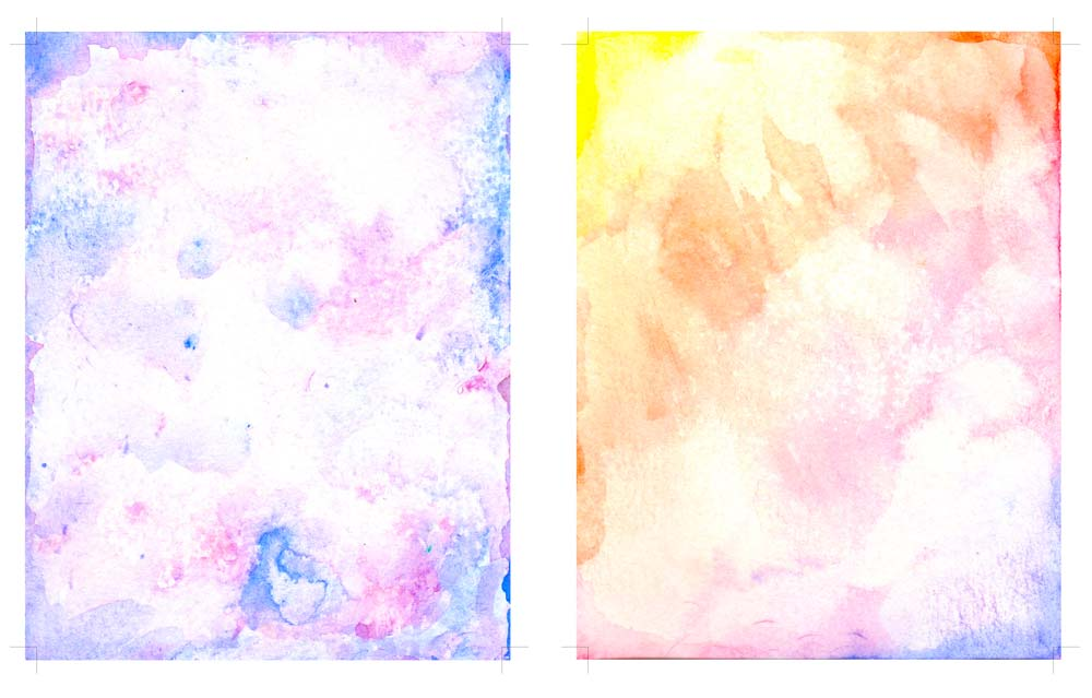 Printable Watercolor Card Backgrounds - Love Paper Crafts