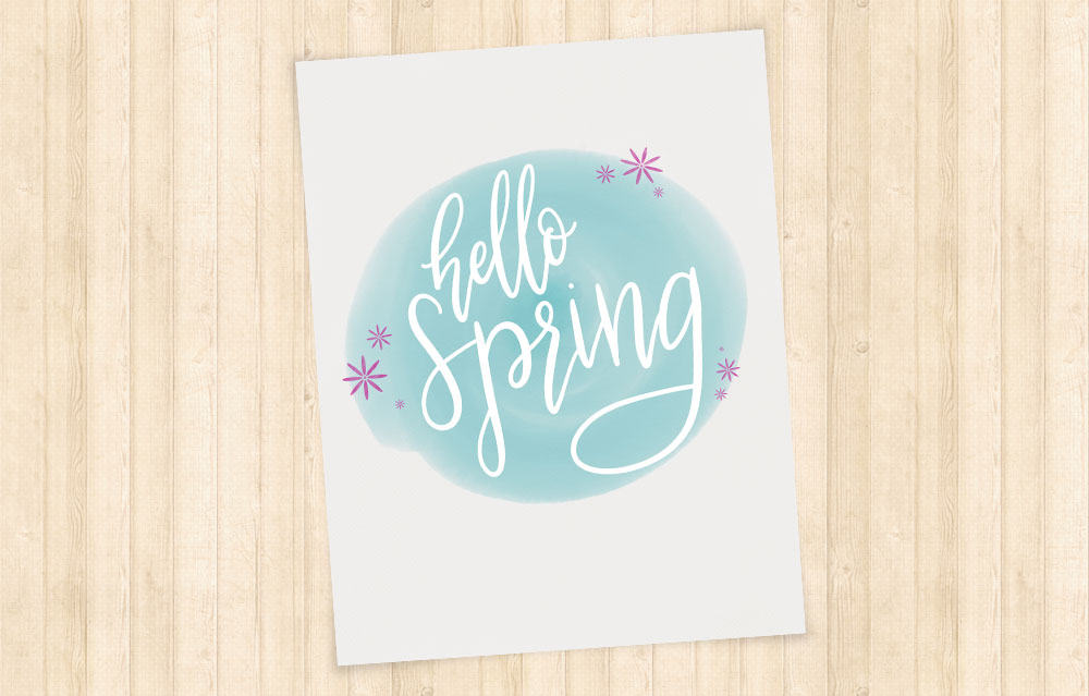 Free Hello Spring Printable Home Decor - Love Paper Crafts