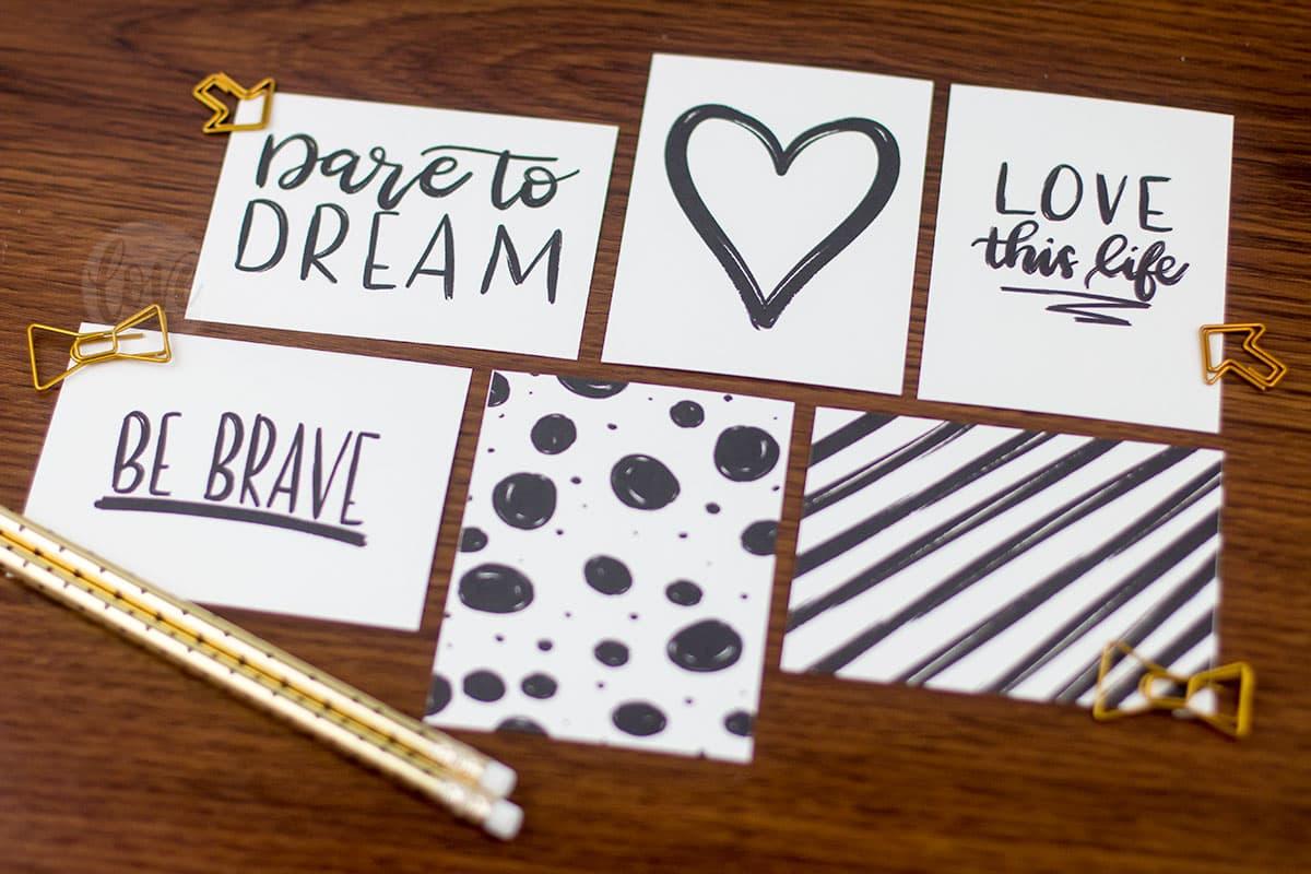 Hand Lettered Motivational Journaling Cards Love Paper