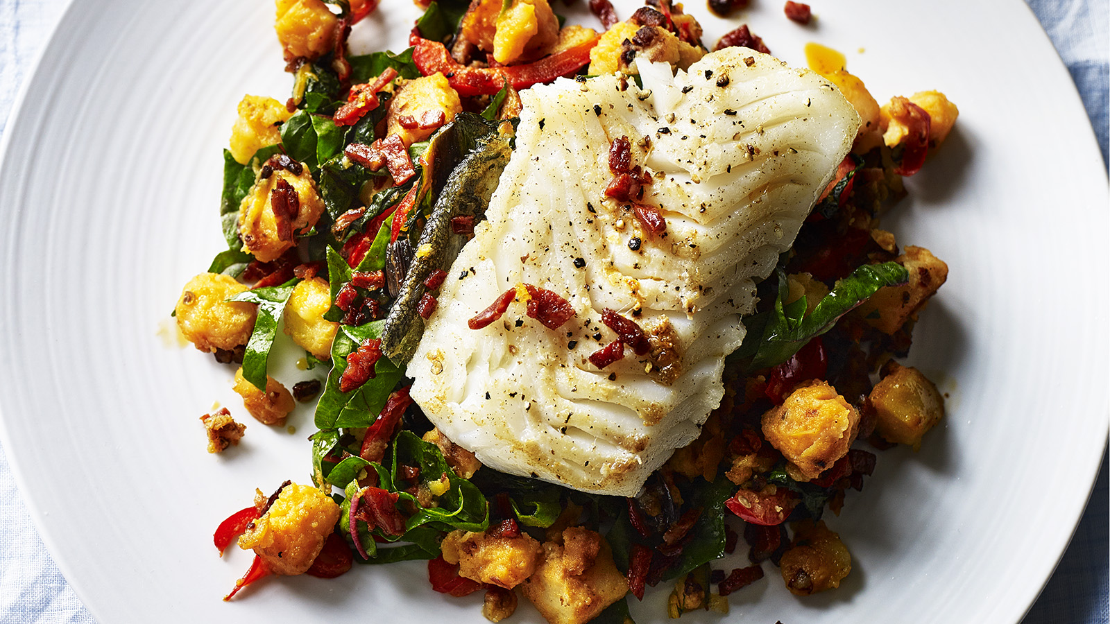 Healthy Breakfast Recipe Delectable And Auto Electrical Wiring Diagram Craftsman 917 273761 Pan Seared Cod With Potatoes U0026 Chorizo