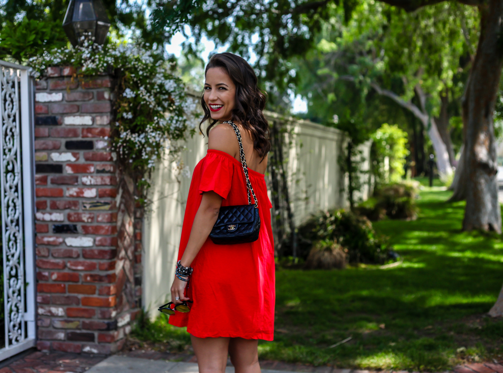 asos-red-shoulder-sundress