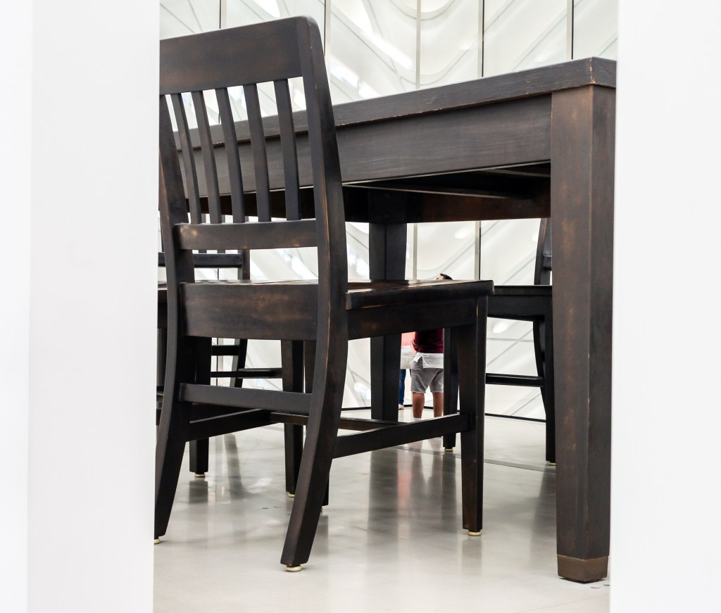 broad huge table chairs