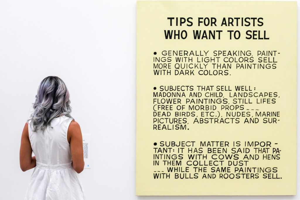 broad tips to sell art
