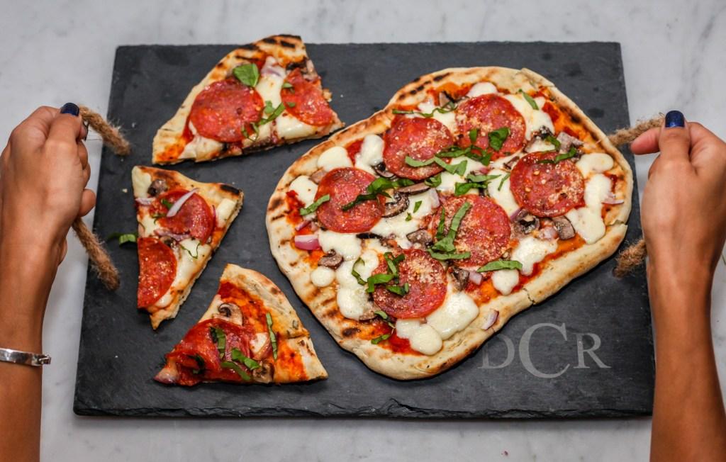 pepperoni and mushroom pizza homemade