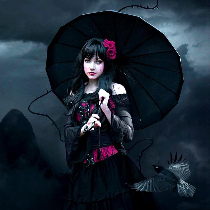 Wampire Moon Wallpaper Desktop 3d Sad Goth Girl Unknown Dark Picture Lover Of Darkness