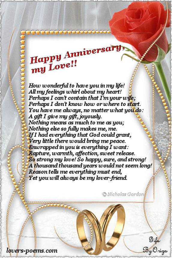 happy anniversary poems for wife