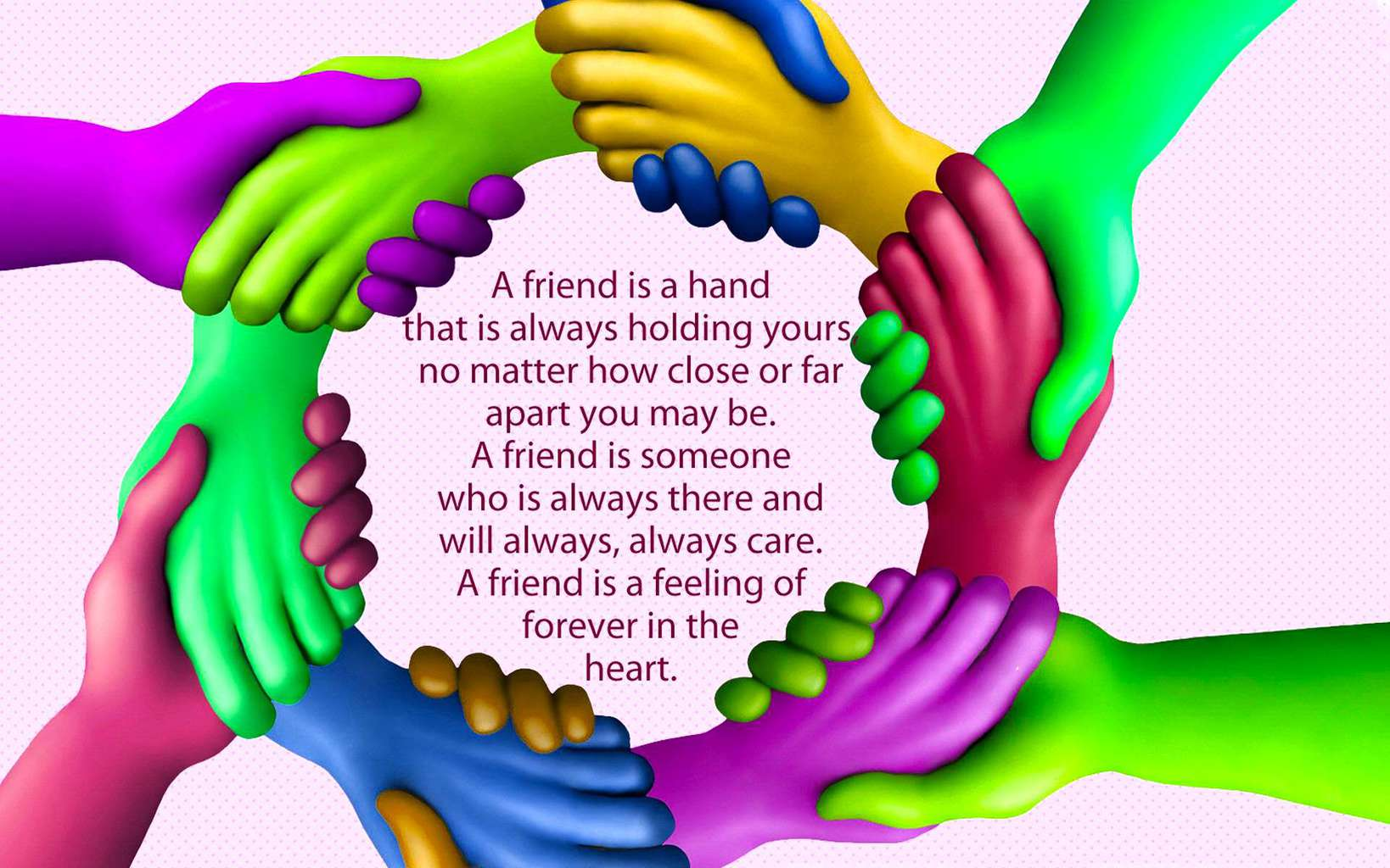Good Morning Friends Wallpaper With Quotes Friendship Hands Image Wallpaper Wallpapers
