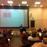 Joy Hansen, Santa Clara Library Foundation President, welcomes volunteers and donors to the grant presentations.