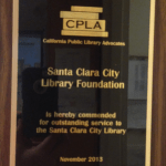 SCCLFF Board of Directors receives award from statewide library association
