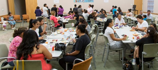 Attendees at the Mission Library Migrant Education Event