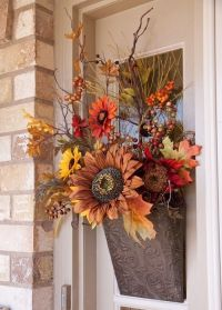 Silk Flower Door Decoration For Fall Pictures, Photos, and ...