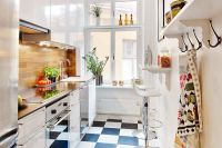 Cute & Functional Tiny Apartment Kitchen Pictures, Photos ...