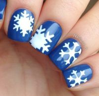 Blue Snowflake Nails Pictures, Photos, and Images for ...