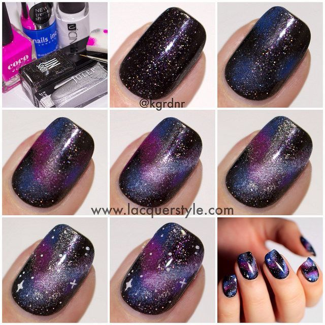 Diy Galaxy Nails Pictures Photos And Images For Facebook