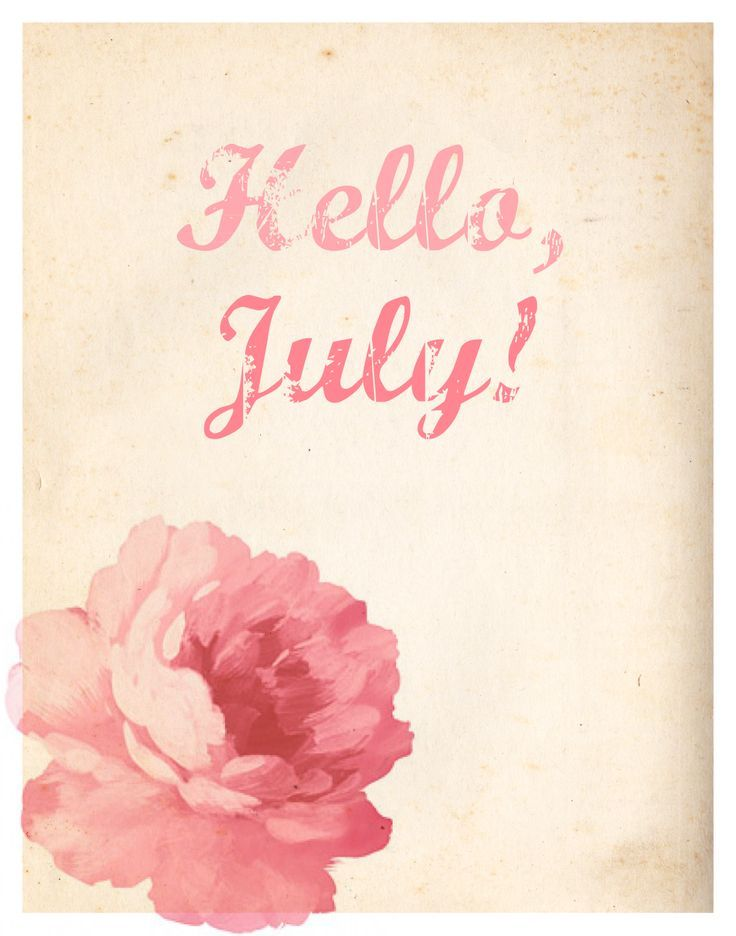 Cute Watercolor Wallpaper Hello July Pictures Photos And Images For Facebook