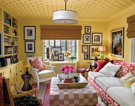 Yellow Living Room Walls With Dotted Ceiling Pictures, Photos, and - yellow living room walls