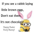 Easter Funny Minion Quote