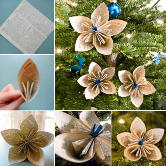 DIY Paper Flower Ornaments Pictures, Photos, and Images for Facebook