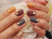 Pretty Multi-Colored Fall Nails Pictures, Photos, and ...