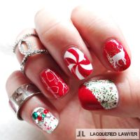 Red Festive Christmas Nail Art Pictures, Photos, and ...