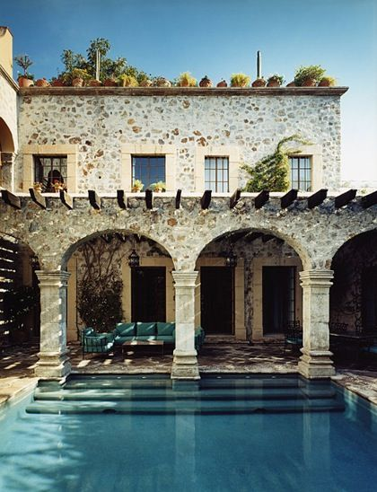 Mediterranean House With Pool Pictures, Photos, And Images For