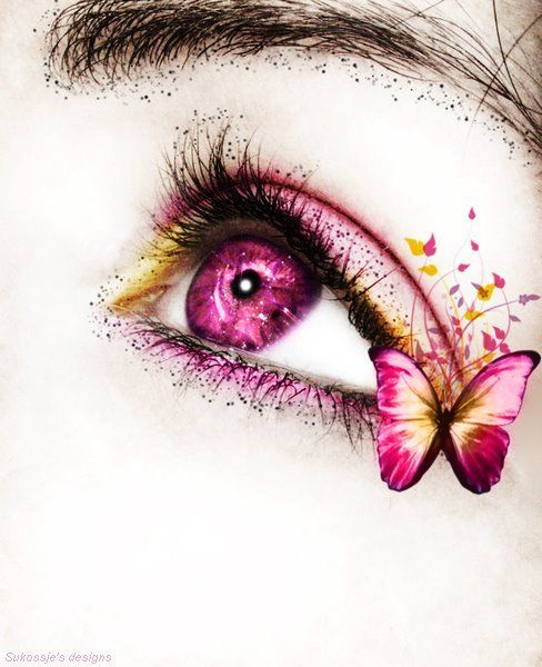 Beautiful Tattoo Girl Wallpaper Butterfly Eyes Pictures Photos And Images For Facebook