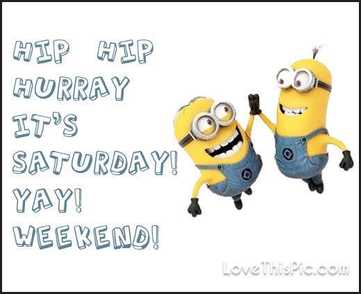 Cute Wedding Cartoon Wallpaper Hip Hip Hooray Its Saturday Minion Quote Pictures Photos