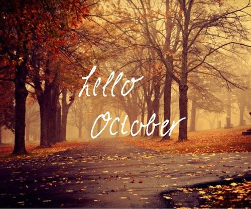 Fall Heart Leaves Background Wallpaper Hello October Pictures Photos And Images For Facebook
