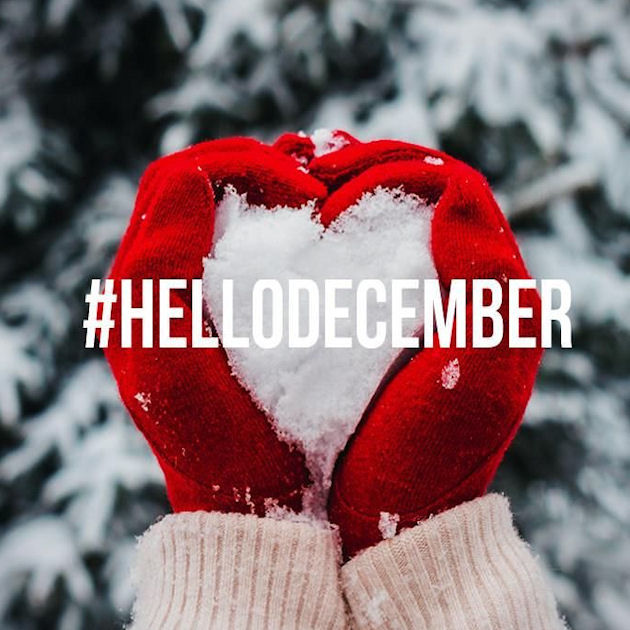 Cute St Patricks Wallpaper Hello December Winter Snow Heart Quote Pictures Photos