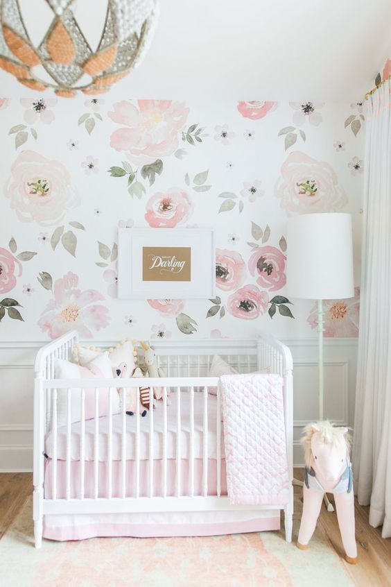 Baby Girl Floral Wallpaper Girl Floral Nursery Room Pictures Photos And Images For