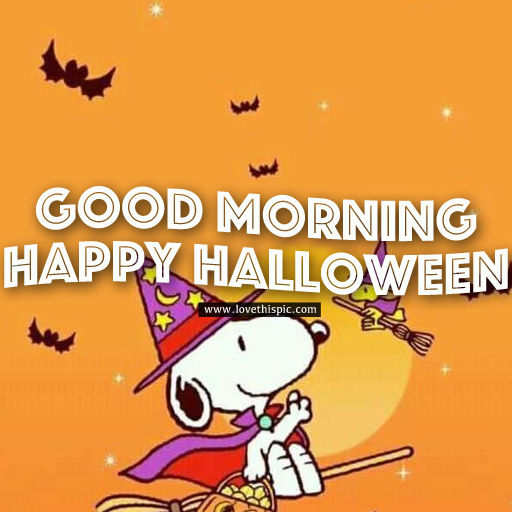 Cute St Patricks Wallpaper Snoopy Witch Good Morning Happy Halloween Pictures Photos