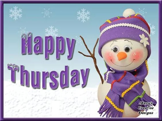 Cute Snowman Happy Thursday Quote Pictures Photos And
