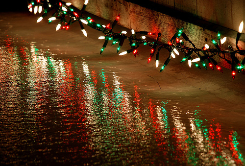 Cute Scenery Gif Wallpaper Christmas Lights River Reflection Pictures Photos And