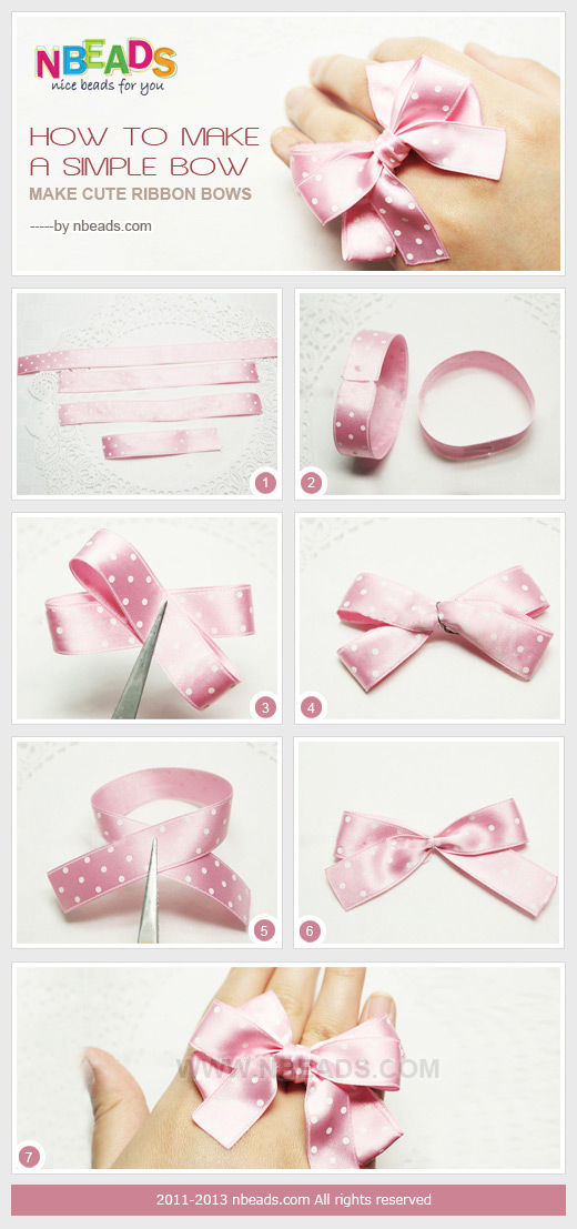 How To Make A Simple Bow - Make Cute Ribbon Bows Pictures, Photos