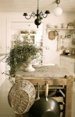 Rustic French Country White Kitchen