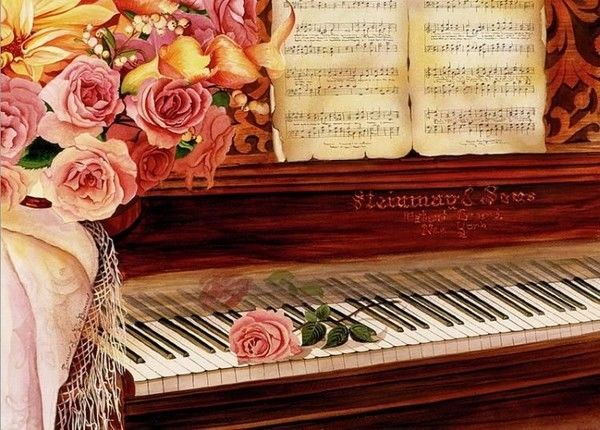 Watercolor Fashion Quote Desktop Wallpaper Romantic Painting Of Piano Pictures Photos And Images