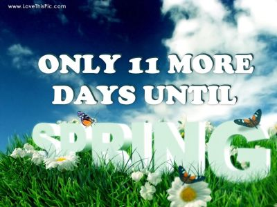 11 More Days Until Spring Pictures, Photos, and Images for Facebook, Tumblr, Pinterest, and Twitter