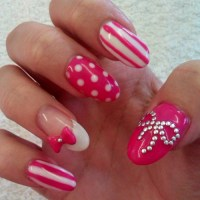 Pink And White Nail Art Designs Pictures, Photos, and ...