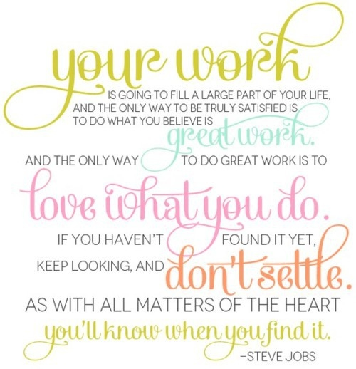 Steve Jobs Quote About Work Pictures, Photos, and Images for