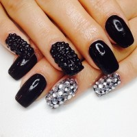 Black And Silver Nails Pictures, Photos, and Images for ...