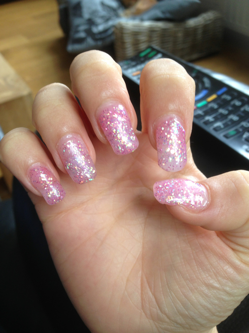 Gel Glitter Nails Nail Ftempo
