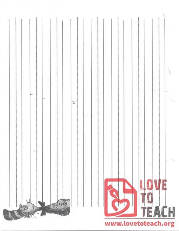 Dr Seuss Lined Paper LoveToTeachorg