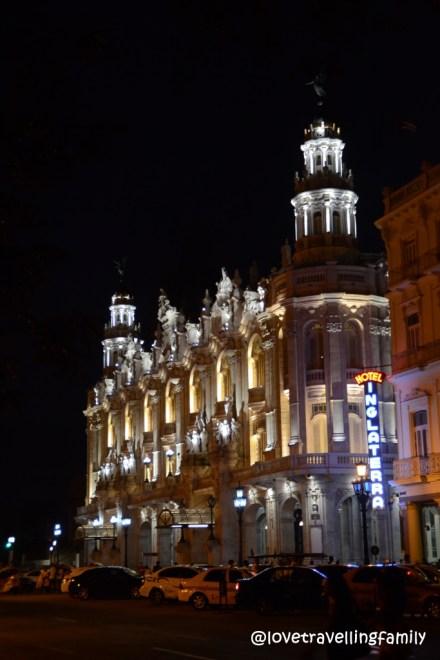 Hotel Inglaterra at night, Havana