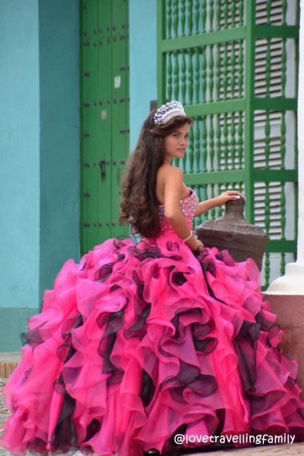 Sweet-15 photo shutting, Trinidad, Cuba