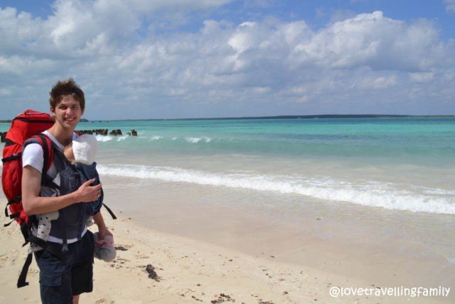 Love travelling family in Playa Las Salinas, Cuba