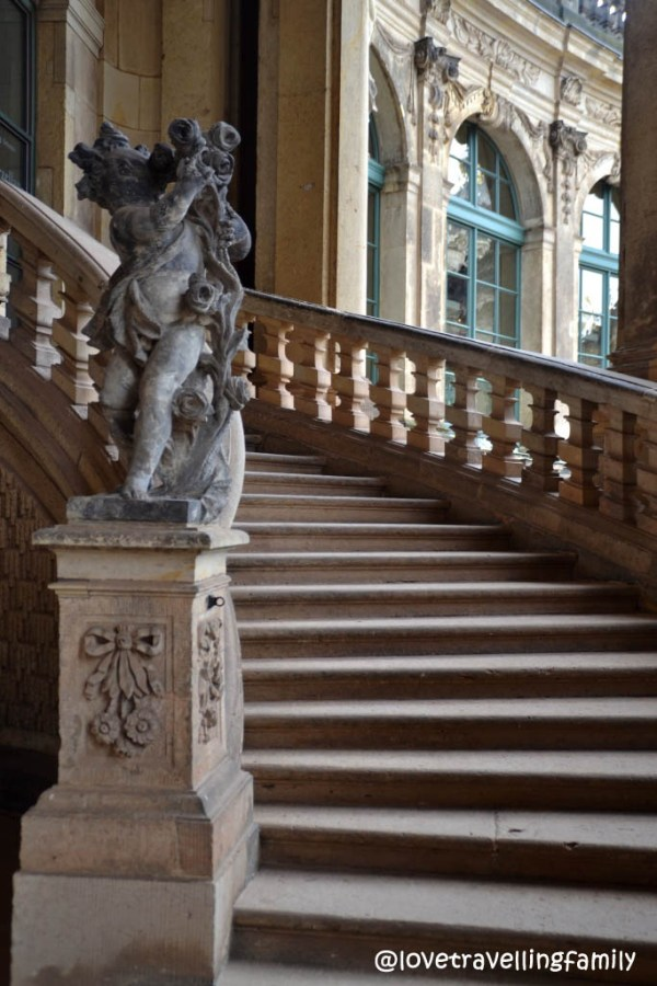 Stairs, Zwinger in Dresden, Germany