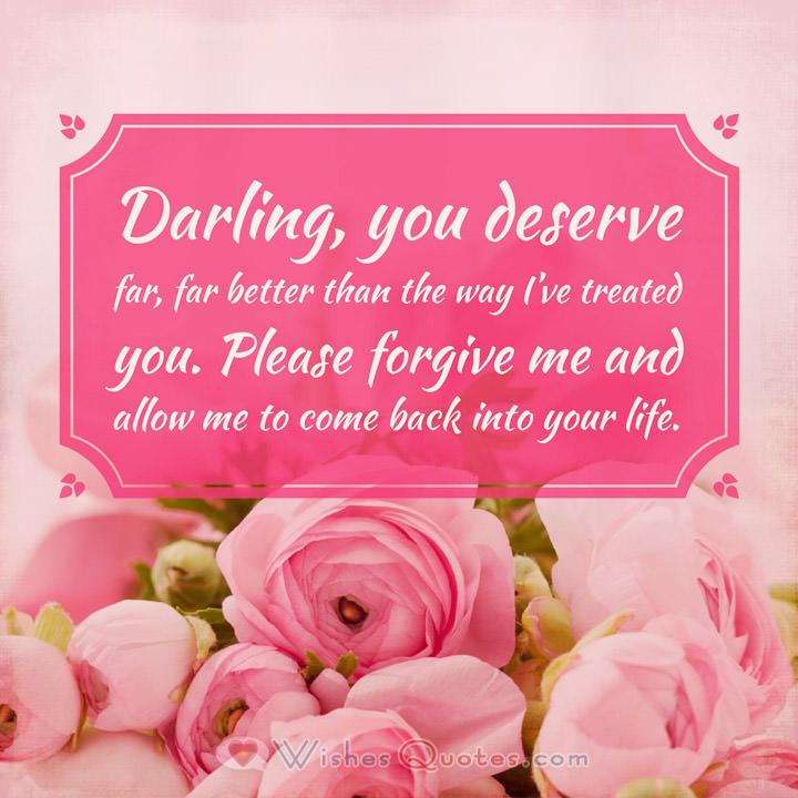 I\u0027m Sorry Messages for Girlfriend 30 Sweet Ways to Apologize to Her - apology card messages
