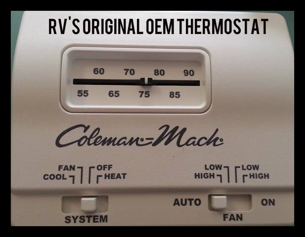 Hunter 42999B Digital RV Thermostat - Upgrading the OEM Thermostat